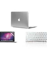 """Недорогие -3 в 1 ультра-тонкой легкий металл Цвет крышки корпуса + крышка клавиатура + протектор экрана для MacBook Air 11 """"13"""" сетчатки / 15 """""""