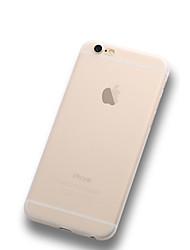 economico -Custodia Per Apple iPhone X iPhone 8 Plus iPhone 6 iPhone 6 Plus Ultra sottile Effetto ghiaccio Traslucido Per retro Tinta unica Morbido