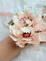 cheap -Wedding Flowers Free-form Peonies Wrist Corsages Wedding Accessories