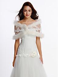 economico -Senza maniche Con strass Piume/Pelliccia Matrimonio Da sera Wraps Wedding With Lustrini Con pelliccia/ piume Coprispalle