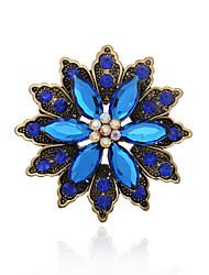 cheap -Women's Gemstone / Rhinestone Brooches - Statement / Fashion / European Coffee / Green / Blue Brooch For Wedding / Party / Special