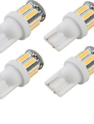 YouOKLight® 4PCS T10 5W 400lm 10-SMD7020 6000K White Light LED Car Bulb Light(12V)