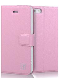 Недорогие -роскошный шелк текстуры PU кожаный чехол бумажник флип чехол для iphone 5 / 5s