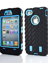 economico -2 in 1 armatura stile robot pc e sillcone caso composito per iPhone 4 / 4S