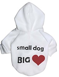cheap -Dog Hoodie Dog Clothes Casual/Daily Letter & Number White Black Costume For Pets