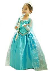 cheap -Gils Snowflake Printed Princess Dress