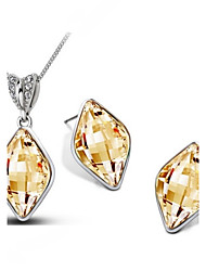 cheap -Women's Crystal Jewelry Set - Crystal Include Yellow / Green / Blue For Wedding Party Daily / Earrings / Necklace