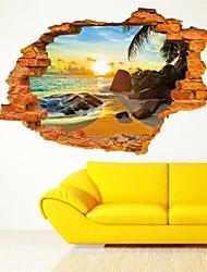 preiswerte -Stillleben / Mode / Feiertage / Formen / Retro / Fantasie / Freizeit Wand-Sticker 3D Wand Sticker , PVC 60*90cm