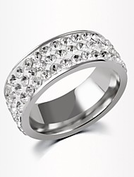 cheap -Women's Band Ring - Zircon Fashion 6 / 7 / 8 Silver / Golden For Wedding / Party / Daily