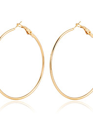 Women's Hoop Earrings Crystal Fashion European Statement Jewelry Costume Jewelry Gold Plated 18K gold Circle Jewelry For Party Daily