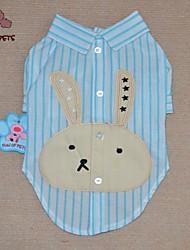 cheap -Cat Dog Shirt / T-Shirt Dog Clothes Cartoon Purple Blue Pink Cotton Costume For Pets Men's Women's Cute Casual/Daily