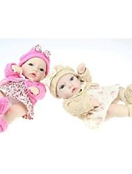 npkdoll возрождается кукла ребенка жесткий силикон 11inch 28см водонепроницаемая игрушка цветочные юбка цвета хаки розовый девочка