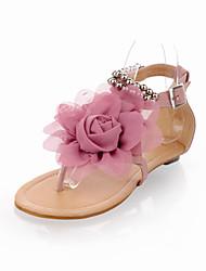 povoljno -Žene Cipele Umjetna koža Proljeće Ljeto Udobne cipele Ravna potpetica Mašnica Biser za Vanjski Formalne prilike Bež Plava Pink