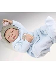 cheap -NPKDOLL Reborn Baby Doll Hard Silicone 20inch 50cm Magnetic Lovely Lifelike Cute Boy Girl Toy Blue Cloth