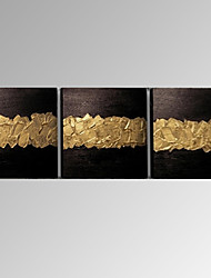 Dipinta a mano Astratto Fantasia Composizione orizzontale Panoramica,Modern Tre Pannelli Tela Hang-Dipinto ad olio For Decorazioni per la