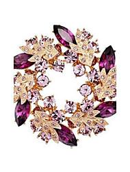 Недорогие -побрякушки побрякушки Кристалл Rhinestone позолоченные китайские Redbud цветок брошь булавки женских украшений броши для шарфа