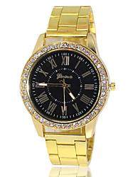 cheap -Men's Quartz Wrist Watch Hot Sale Alloy Band Charm Gold