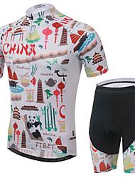 abordables -XINTOWN Manches Courtes Maillot et Cuissard de Cyclisme Vélo Cuissard  / Short / Maillot / Ensemble de Vêtements, Respirable, La peau 3 densités, Séchage rapide, Résistant aux ultraviolets / Hiver