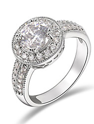 cheap -T&C Women's Fashion Jewelry with Sparkling Round Cz Diamond Crystal Pave Halo Engagement Rings
