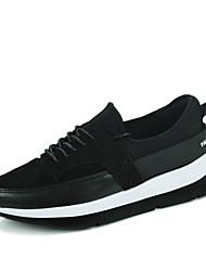 baratos -Homens sapatos Courino / Camurça Primavera / Outono Conforto Tênis Basquete Preto / Preto / Vermelho / Branco / Preto