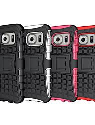 billiga -fodral Till Samsung Galaxy Samsung Galaxy S7 Edge Stötsäker / Läderplastik Skal Rustning PC för S8 Plus / S8 / S7 edge