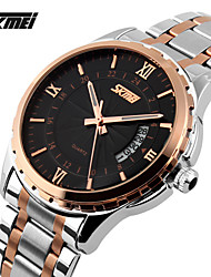 SKMEI® Men's Brand Luxury Watch Auto Date Quartz Full Steel Wristwatch Cool Watch Unique Watch