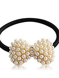 cheap -Lucky Doll Women's All Matching Vintage Elegant Imitation Pearl Bow Hair Tie