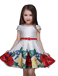 economico -Vestito Girl Fantasia floreale Poliestere Estate Multicolore