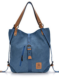 cheap -Women's Bags Canvas Backpack for Casual Outdoor All Seasons Black Coffee Red Blue Khaki