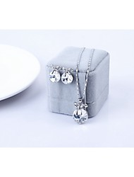 cheap -Women's Crystal Jewelry Set - Crystal Include White / Rose / Blue For Wedding Party Daily / Earrings / Necklace