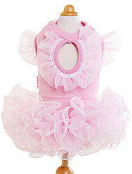 Chien Robe Vêtements pour Chien Mode Solide Jaune Bleu Rose Costume Pour les animaux domestiques