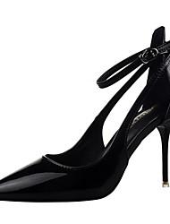 Damen Schuhe Lackleder Kunstleder Frühling Sommer Neuheit High Heels Stöckelabsatz Spitze Zehe Schnalle Für Kleid Party & Festivität