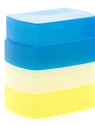 nuovo silicone flessibile flash di rimbalzo diffusore softbox bianco + giallo + blu per Canon 580EX II YN-568/565/560 iii