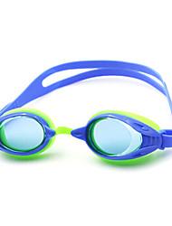 Недорогие -плавательные очки Противо-туманное покрытие силикагель Поликарбонат белый черный синий белый черный синий