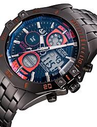 levne -Pánské Náramkové hodinky japonština Křemenný Japonské Quartz Alarm Kalendář Chronograf Voděodolné Hodinky s dvojitým časem Nerez Kapela