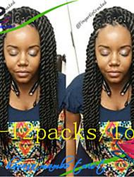 "Twist Braids Hair Braid Havana 100% Kanekalon Hair #27 #30 Blue Grey Bug 14"" 16"" 18"" 20"" 22"" Braiding Hair Hair Extensions"