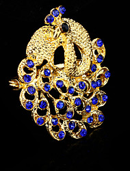 cheap -Women's Brooches - Crystal, Cubic Zirconia Peacock Party, Work, Casual Brooch Blue For Wedding / Party / Special Occasion