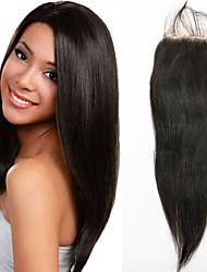 chiusura del merletto dei capelli umani diritti chiusura capelli vergini 12inch parte libera chiusura dei capelli