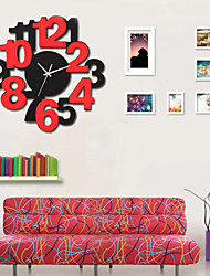cheap -Modern Creative Fashion Glass Wooden Mute Wall Clock 2 Colors Optional