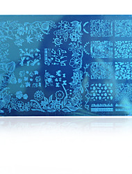 5pcs новую красоту изображения искусства ногтя штамповки пластины конструкции способа для ногтей шаблоны поделок инструменты hk10