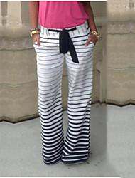 cheap -Women's Classic & Timeless Wide Leg Jeans Pants - Striped