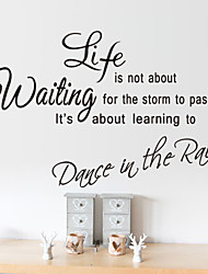 cheap -Wall Stickers Wall Decals Style Life Is Short English Words & Quotes PVC Wall Stickers