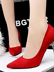 abordables -Mujer Zapatos Semicuero Primavera Verano Confort Tacón Stiletto para Vestido Fiesta y Noche Rojo Verde Rosa Dorado Caqui