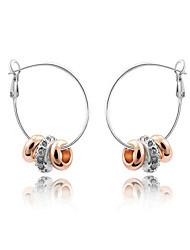 cheap -Austria Crystal Hoop Earrings for Women Beads Earrings Fashion Jewelry Accessories