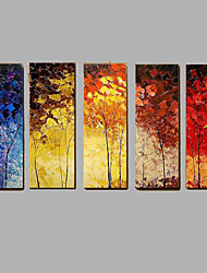 Hand-painted Abstract 5 Piece/set Thick Oil Painting Wall Art Home Decorwith Frame Ready To Hang