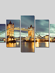 5 Piece Building Painting Modern Home Decor Canvas Art Pictures On The Wall Print Painting Canvas Arts Unframed