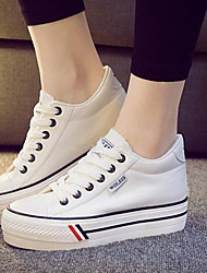 cheap -Women's Shoes Canvas Increased Within Flange Leisure Platform Comfort / Round Toe Fashion Sneakers Outdoor / Athletic