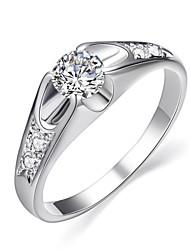 abordables -Femme Cristal Anneau de déclaration - Imitation Diamant Classique, Mode Taille Unique Argent / Doré Pour Mariage Soirée