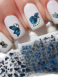 preiswerte -24 pcs 3D Nails Nagelaufkleber Nagel Kunst Maniküre Pediküre lieblich Modisch Alltag / 3D Nagel Sticker