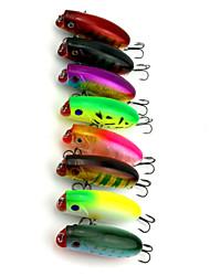 """8 Stück Angelköder Druckknopf Zufällige Farben g/Unze,60 mm/2-3/8"""" Zoll,Fester KunststoffSeefischerei Fischen im Süßwasser Spinnfischen"""
